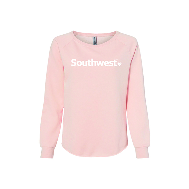 Ladies California Wave Wash Crew Neck
