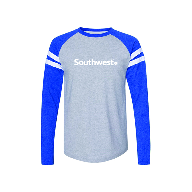 Jersey Mash Up Long Sleeve Tee