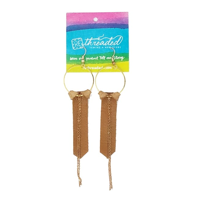 Southwest Recycled Leather Joy Earrings