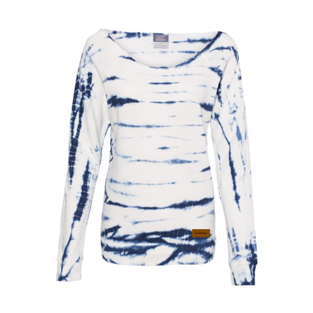 Off Shoulder Tie-Dyed French Terry